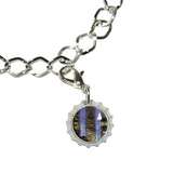 New York City Skyline Sky Lights Bottlecap Charm
