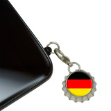 German Germany Flag Mobile Bottlecap Phone Charm