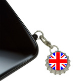 Britain British Flag - Union Jack Mobile Bottlecap Phone Charm
