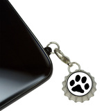 Paw Print - Pet Dog Cat Mobile Bottlecap Phone Charm