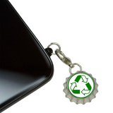 Recycle Reuse Conservation - Hybrid Mobile Bottlecap Phone Charm