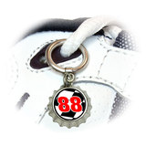 Number 88 Checkered Flag - Racing Shoe Bottlecap Charm