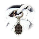 Turtle Pattern Oval Shoe Charm
