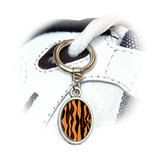 Tiger Print Oval Shoe Charm