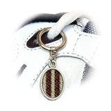 Snake Print Oval Shoe Charm