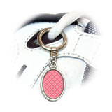Pink Flower Elegance Oval Shoe Charm