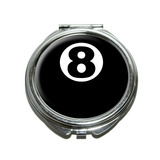 Eight Ball - Pool Billiards Compact Mirror
