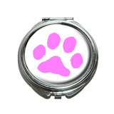 Paw Print - Pink Compact Mirror