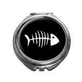 Fish Bones Compact Mirror