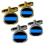 Thin Blue Line - Police Policemen Round Cufflinks