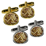 Bullets - Rifle Gun Weapon Round Cufflinks