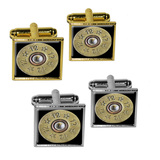 12 Gauge Spent Shell Bullet Ammo Gun Square Cufflinks
