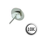10k Pierced Stud Earrings
