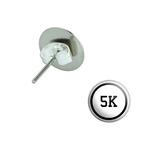 5k Pierced Stud Earrings