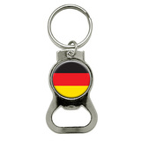 German Germany Flag Round Bottle Opener Keychain