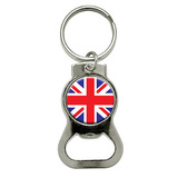 Britain British Flag Round Bottle Opener Keychain