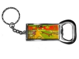 Night Cafe by Vincent Van Gogh Bottle Opener Keychain