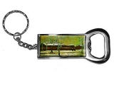Old Station by Vincent Van Gogh Bottle Opener Keychain