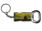 Old Tower by Vincent Van Gogh Bottle Opener Keychain