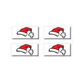 Santa Hat - Set of 3D Stickers