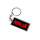 Ninja Metal Rectangle Keychain