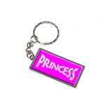 Princess Metal Rectangle Keychain