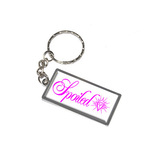 Spoiled - Diamond Metal Rectangle Keychain