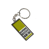 Warning Protected By Yorkshire Terrier Metal Rectangle Keychain