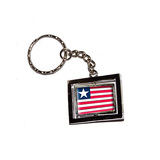 Liberia Country Flag Spinning Rectangle Keychain
