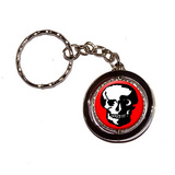 Skull Skeleton Spinning Circle Keychain
