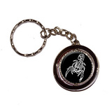 Scorpion Black Spinning Circle Keychain