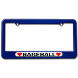 Baseball Love with Hearts License Plate Frame
