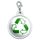 Recycle Hybrid Large Metal ID Pet Dog Tag