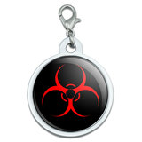 Biohazard Warning Symbol Large Metal ID Pet Dog Tag