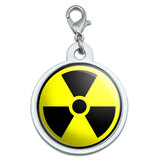 Radioactive Nuclear Warning Symbol Large Metal ID Pet Dog Tag