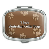 I Love Heart Dogs - Australian Cattle Dogs - Rectangle Pill Box