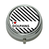 I Love Heart Dolphins Pill Box