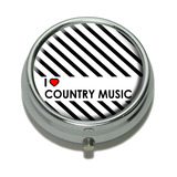 I Love Heart Country Music Pill Box