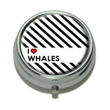 I Love Heart Whales Pill Box