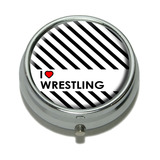 I Love Heart Wrestling Pill Box