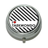 I Love Heart Taekwondo Pill Box
