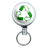 Recycle Reuse Conservation Hybrid Retractable Belt Clip Badge Key Holder