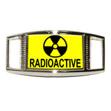 Radioactive - Nuclear Warning Symbol Rectangle Shoe Charm