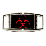 Biohazard Warning Symbol - Zombie Rectangle Shoe Charm