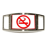 No Smoking Symbol Rectangle Shoe Charm