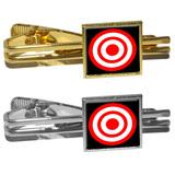 Target Sniper Scope Bullseye Square Tie Clip