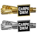 Carpe Diem Sieze the Day Latin Inspirational Distressed Square Tie Clip