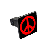 Peace Sign Red Tow Hitch Cover