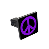 Peace Sign Purple Tow Hitch Cover