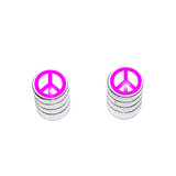 Peace Sign Pink - Bike Valve Stem Caps
